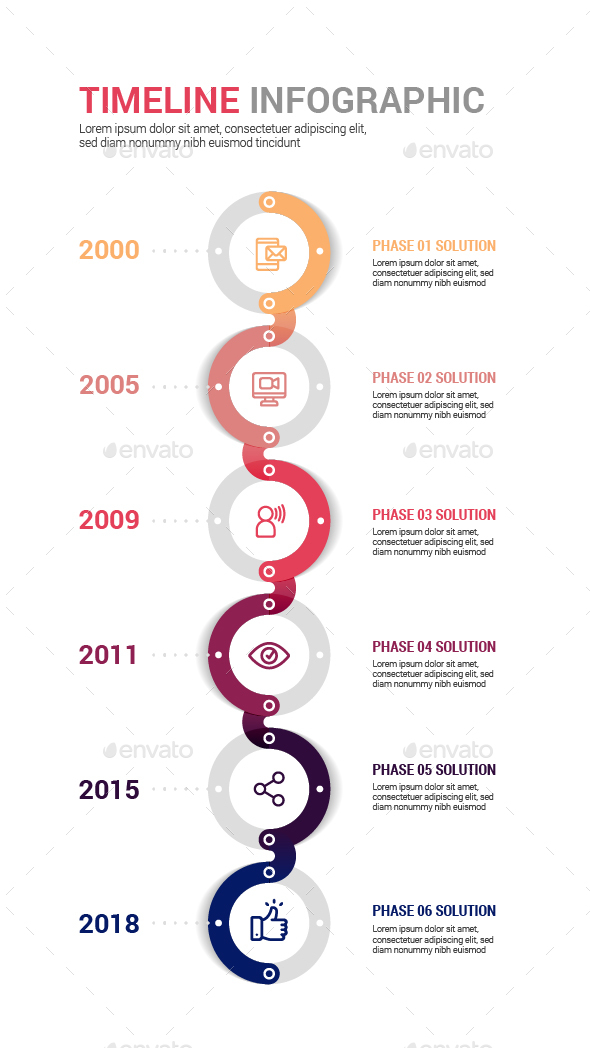 Circle Timeline infographic - Infographics
