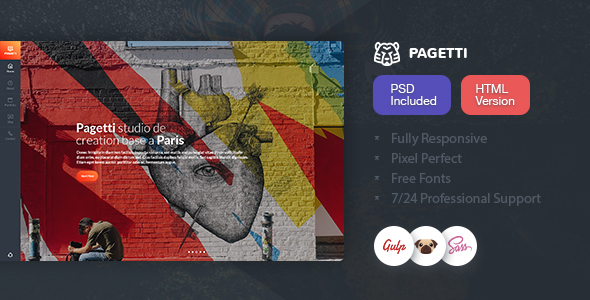 Image of Pagetti - Fullscreen Portfolio Template