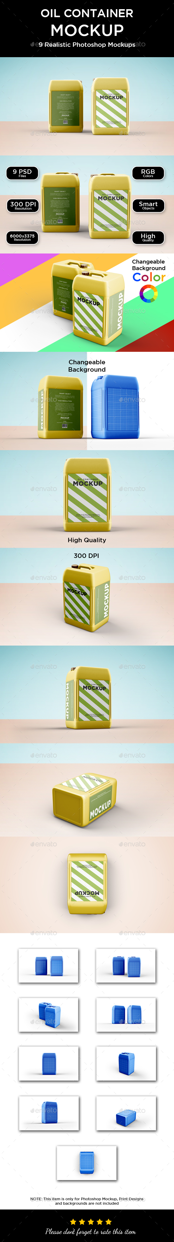 Oil Container Mockup - Packaging Product Mock-Ups