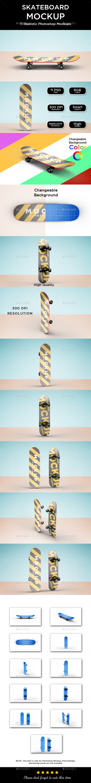 Skateboard Mockup - Product Mock-Ups Graphics