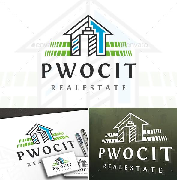 Power City House Logo - Buildings Logo Templates