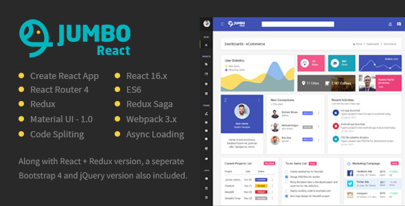 React Redux Material BootStrap 4 Admin Template - Admin Templates Site Templates
