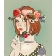 Portrait of a Young Woman with Flowers - GraphicRiver Item for Sale