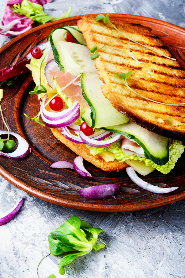 Sandwiches on the plate - Stock Photo - Images