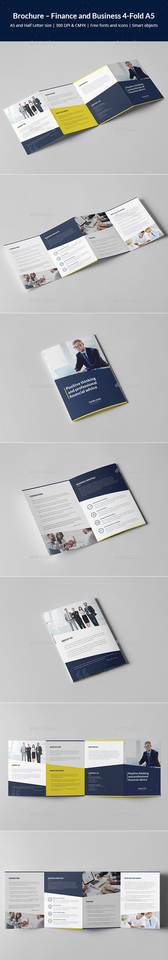 Brochure – Finance and Business 4-Fold A5 - Corporate Brochures