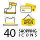 Clothes & Shopping Flat Vector Icons
