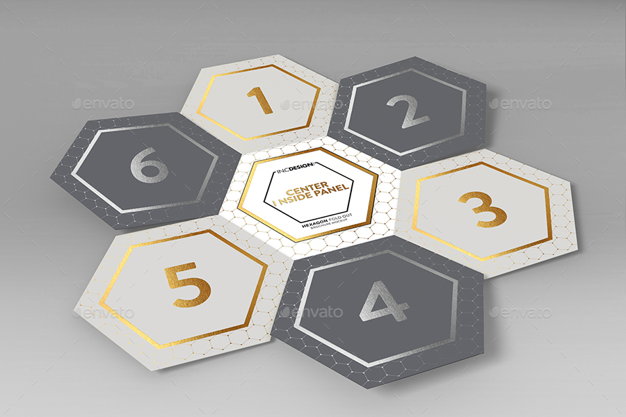 hexagon fold out style brochure by ina717