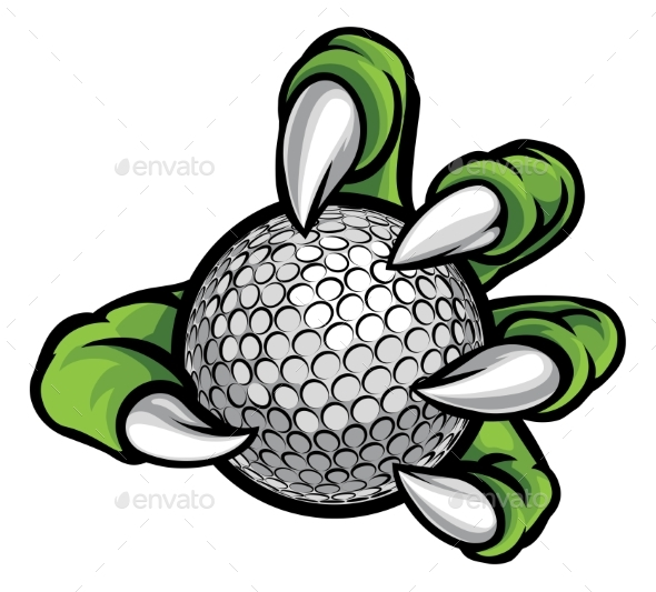 Monster or Animal Claw Holding Golf Ball - Sports/Activity Conceptual