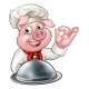 Cartoon Chef Pig Character Mascot - GraphicRiver Item for Sale