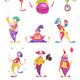 Clowns Icons Set