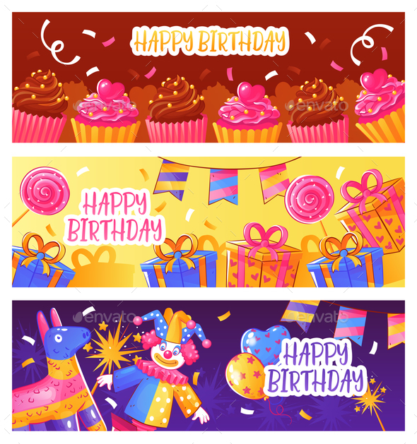 Birthday Party Banners - Birthdays Seasons/Holidays