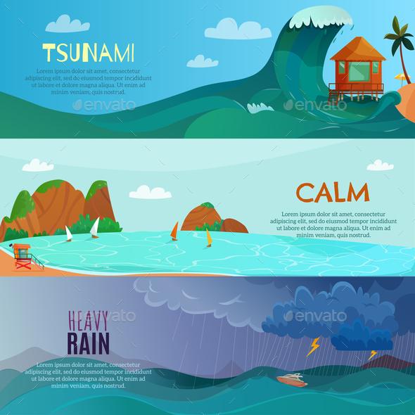 Seaside Landscapes Banners Set - Landscapes Nature