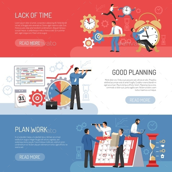 Flat Planning Banners - Miscellaneous Conceptual