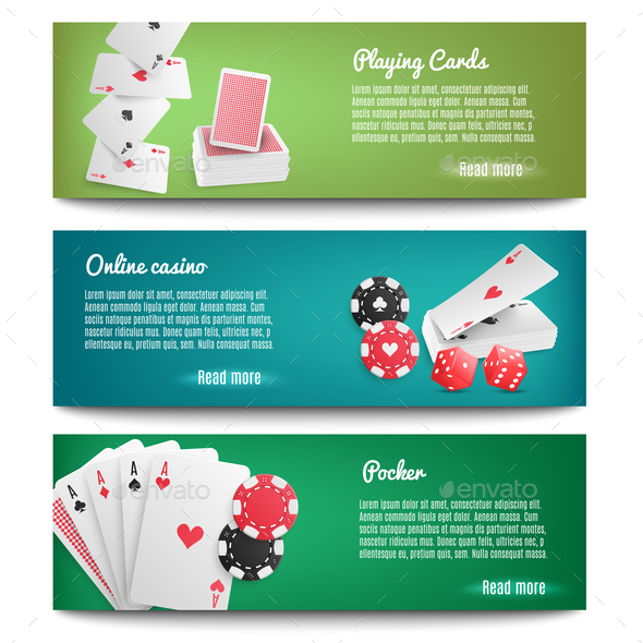 Casino Online Realistic Banners - Backgrounds Decorative