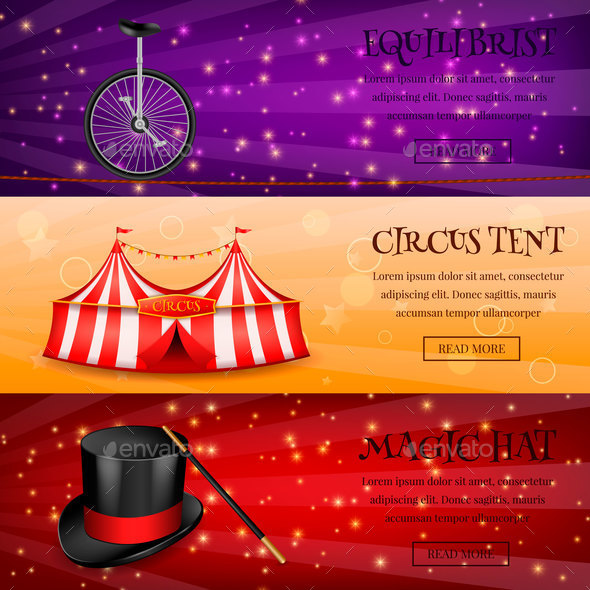 Magic Circus Banners Collection - Industries Business
