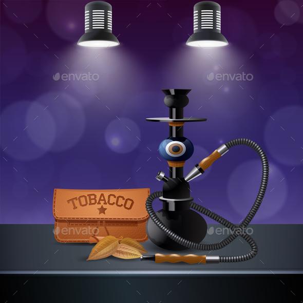 Realistic Colored Tobacco Composition - Backgrounds Decorative