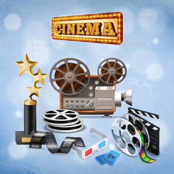 Realistic Cinema Background - Media Technology