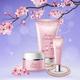 Sakura Tubes Of Cosmetics Composition