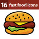 16 Fast Food Icons - GraphicRiver Item for Sale