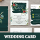 Watercolour Floral Wedding Invitation Set - GraphicRiver Item for Sale