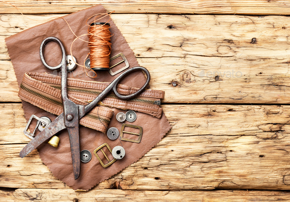 Tools for leather craft - Stock Photo - Images