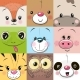 Set of Animals Faces