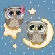 Valentine Card with Lovers Owls - GraphicRiver Item for Sale