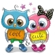 Two Owls on a White Background - GraphicRiver Item for Sale