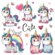 Set of Cartoon Unicorns - GraphicRiver Item for Sale
