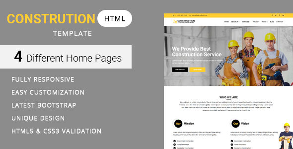 Image of Construct - Construction and Building Website Template