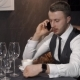 Businessman Is Calling Somebody in Cafe - VideoHive Item for Sale