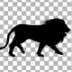4K Lion Fast Walk Silhouette - VideoHive Item for Sale