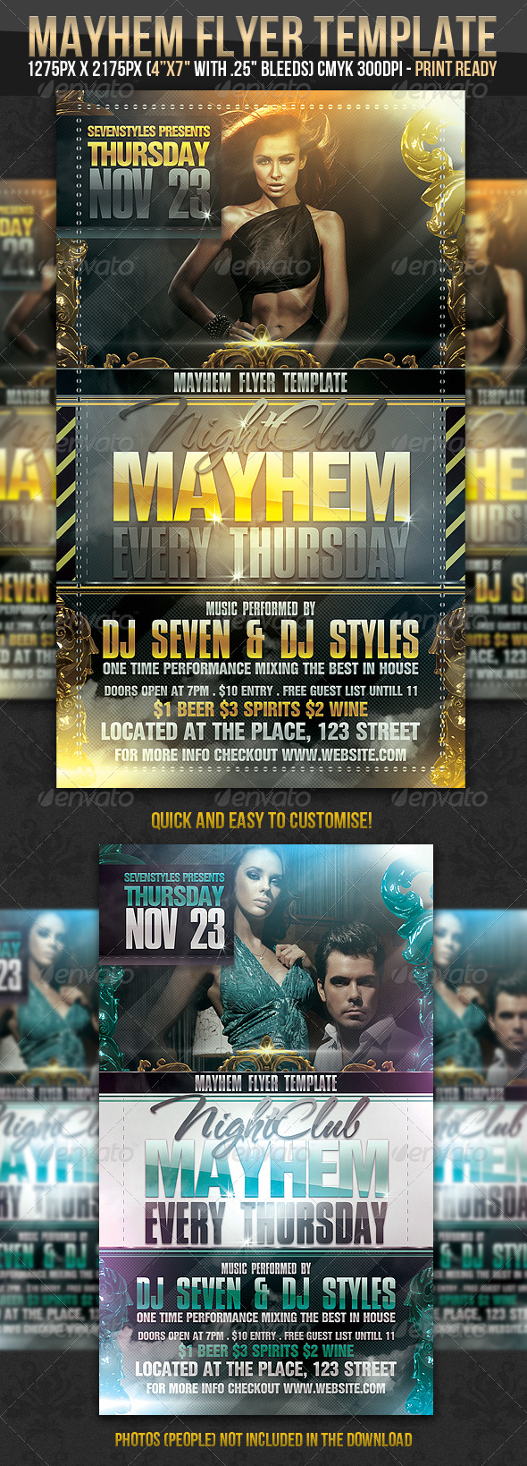 Mayhem Flyer Template   Clubs U0026 Parties Events