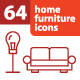 64 Home Furniture Icons - GraphicRiver Item for Sale