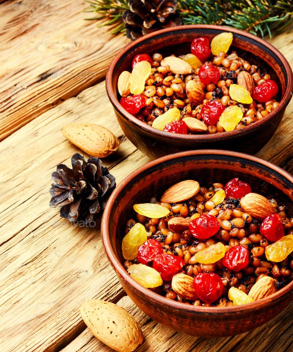 traditional christian Christmas dish, kutya - Stock Photo - Images