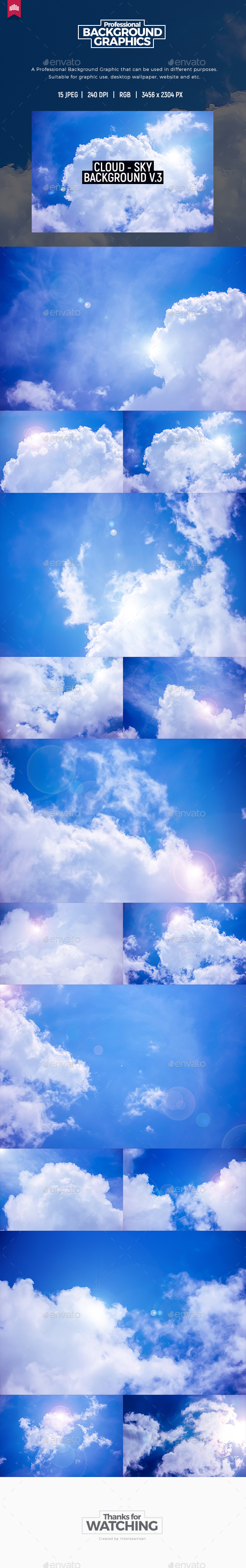Cloud - Sky Background V.3 - Nature Backgrounds
