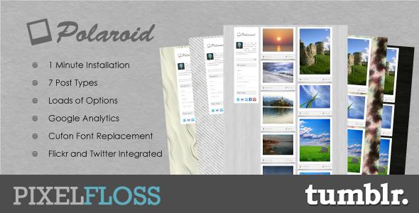 Free Download Polaroid Tumblr Theme Nulled Latest Version