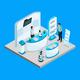 Isometric Robotics Exhibition Template