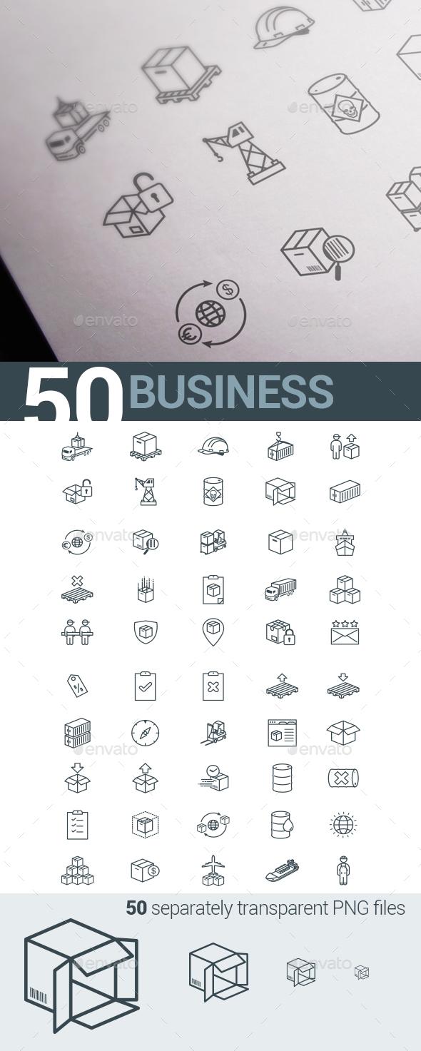 Business E-commerce & Logistics - Business Icons
