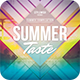 Summer Taste CD Cover Artwork - GraphicRiver Item for Sale