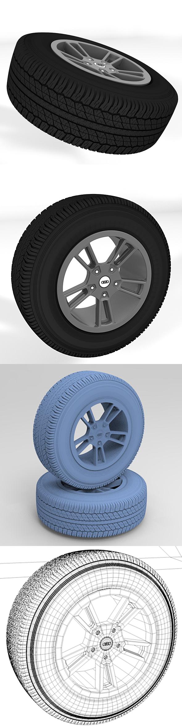 Standard wheel tire - 3DOcean Item for Sale