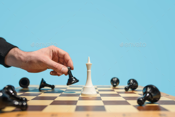 The chess board and game concept of business ideas and competition. - Stock Photo - Images