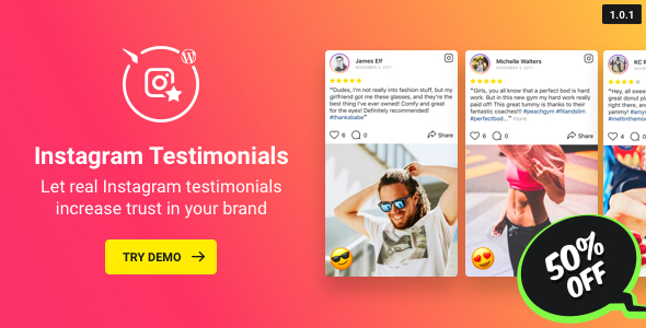 Instagram Testimonials Plugin for WordPress - CodeCanyon Item for Sale