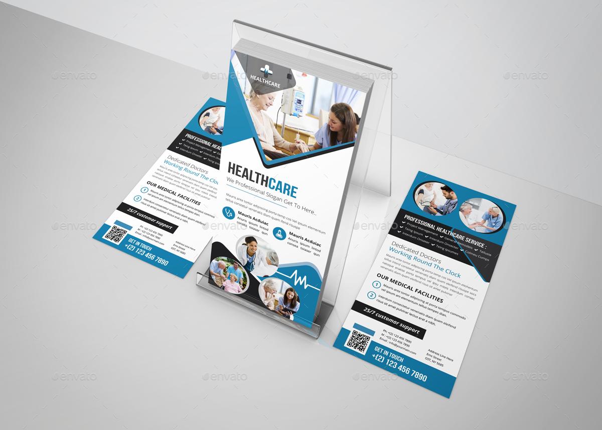 Healthcare Rack Card DL Flyer Design Template By JanySultana - Rack card design template