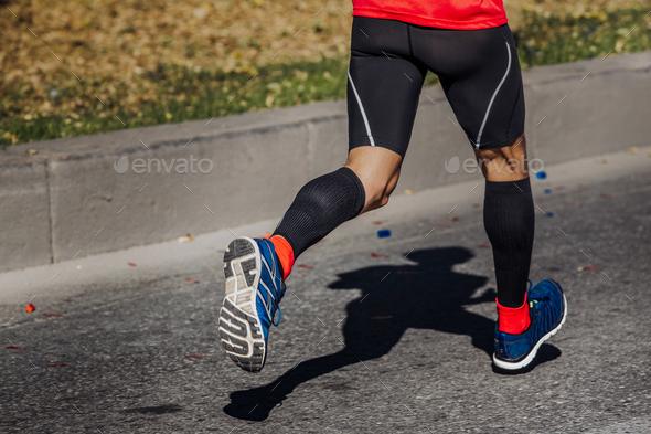 athlete runner feet - Stock Photo - Images