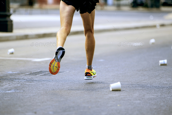 legs runner athlete running - Stock Photo - Images