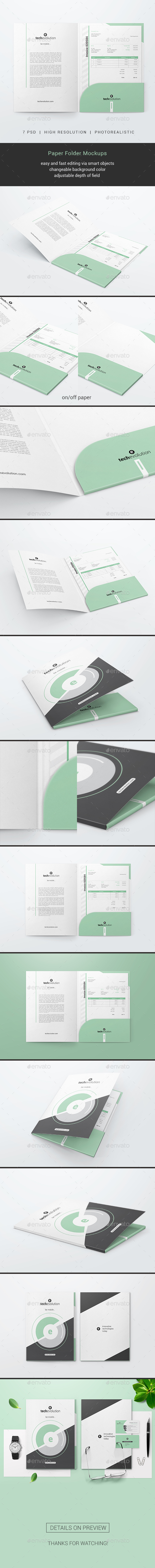 Folder Mockups - Miscellaneous Print