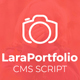 LaraPortfolio CMS Script - CodeCanyon Item for Sale
