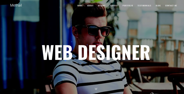 Methail Creative Personal Portfolio Template Free Download | Nulled