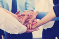 business people group joining hands - PhotoDune Item for Sale